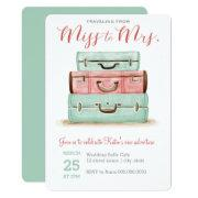 Coral Mint Miss To Mrs. Travel Shower