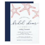 Coral & Navy Starfish Bridal Shower
