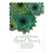 Country Bridal Shower Green Succulents