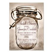 Country Mason Jar Rustic Bridal Shower