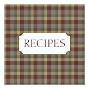 Country Recipe Trading Card Collection Personalized Announcements