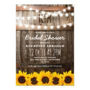 Country Rustic Bridal Shower | Sunflowers