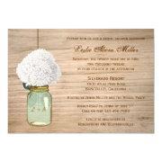 Country Rustic Mason Jar Hydrangea Bridal Shower