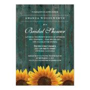 Country Rustic Sunflower Bridal Shower