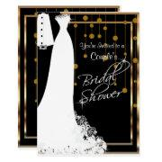Couple Bridal Shower In Black & Gold