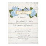 Couples Shower Boho Shiplap Wooden Board Hydrangea