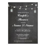 Couples Shower Party Wedding Lights Jars Invite