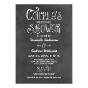 Couple's Wedding Shower | Black Chalkboard
