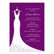 Couture Gown Bridal Shower  (purple)