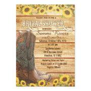 Cowboy Boots Sunflower Bridal Shower