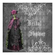 Creepy Halloween Bride Shabby Chic Bridal Shower