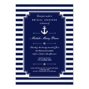 Crisp Blue White Nautical Bridal Shower