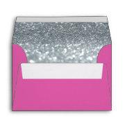 Custom Envelope - (4x6) Dark Pink Fab