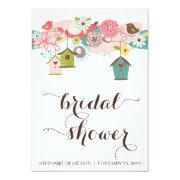 Cute Birds & Bird Houses Bridal Shower