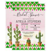 Cute Boho Chic Cactus Tribal Bridal Shower