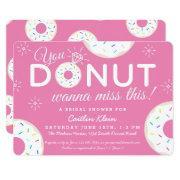 Cute Donut Bridal Shower  | Pink