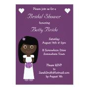 Cute Ethnic Bride Purple Bridal Shower