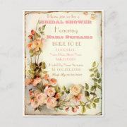 Cute Floral Bridal Shower Invitation