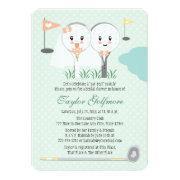 Cute Golf Ball And Tee Bride Groom Bridal Shower