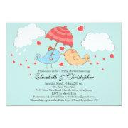 Cute Love Birds Bridal Shower Custom Invite