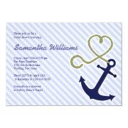 Cute Nautical Bridal Shower Invitations