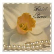 Daffodil and Pearls Bridal Shower Invitation