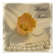 Daffodil And Pearls Bridal Shower