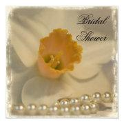 Daffodil and Pearls Bridal Shower Custom Invitations