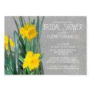 Daffodils Bridal Shower Invitations