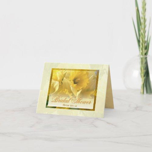 Daffodils Shower Invitations