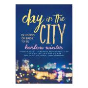 Day In The City Bachelorette Party Invitation