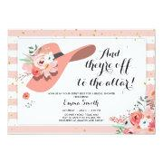 Derby Wear A Hat Horse Rose Gold Bridal Shower Invitation