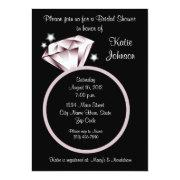 Diamond Ring Bridal Shower  Black White
