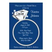 Diamond Ring Bridal Shower  Royal Blue