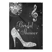 Disco Ball And Sparkle Heels Black Bridal Shower