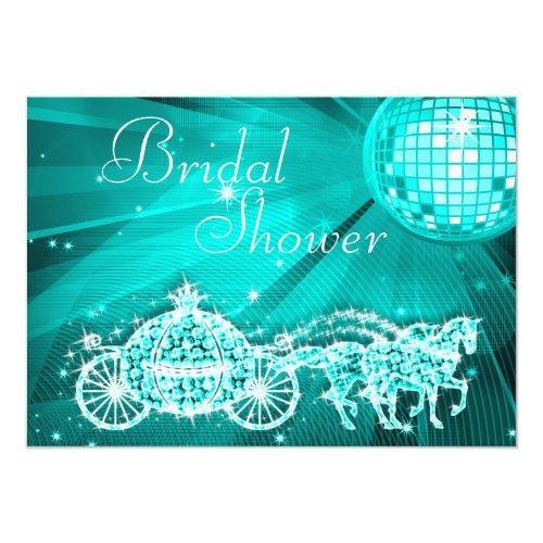 Disco Ball, Princess Coach & Horses Bridal Shower Invitations