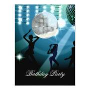 Disco Retro Birthday Party Invitation Custom Announcement