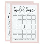 Double-sided Bridal Shower Bingo And Purse Game