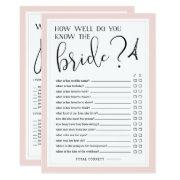 Double-sided Bridal Shower Game