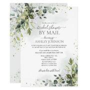 Dusty Blue Eucalyptus Script Virtual Bridal Shower Invitation