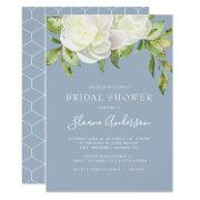 Dusty Blue Spring Floral Peony Bridal Shower