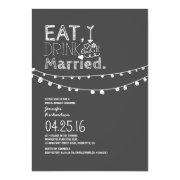 Eat Drink And Be Married Bridal Shower