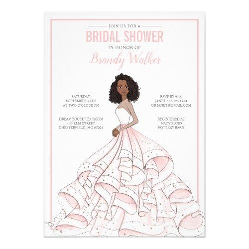 Editable Glam Bride Bridal Shower Invitation