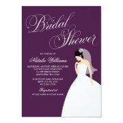 Eggplant Purple Wedding Gown Bridal Shower