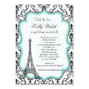 Eiffel Tower Aqua Paris Bridal Shower