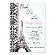 Eiffel Tower Damask Paris Bridal Shower