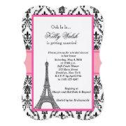 Paris bridal shower invitations funbridalshowerinvitations eiffel tower damask paris bridal shower filmwisefo