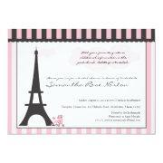 Eiffel Tower & Pink Poodle Bridal Shower