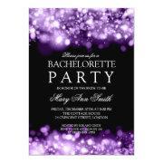Elegant Bachelorette Party Sparkling Lights Purple