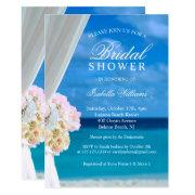 Elegant Blue Ocean Beach Bridal Shower